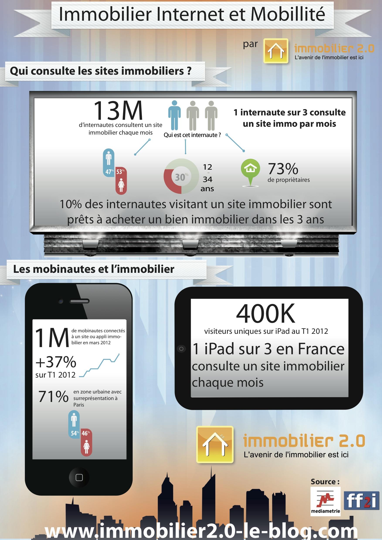 Infographie le profil des internautes qui consultent des for Immobilier site