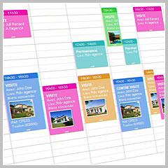 agenda du logiciel de transactions immobilières Hektor