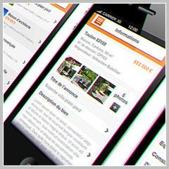 application mobile du logiciel de transactions immobilières Hektor