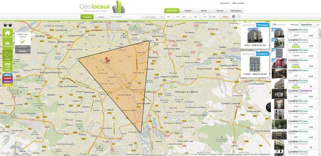 visuel du site immobilier géolocaux zone immobilière