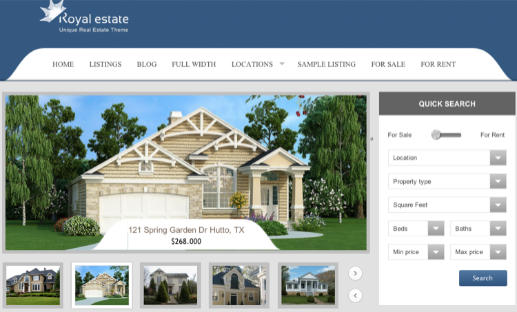 template-wordpress-agent-immobilier-royal-estate