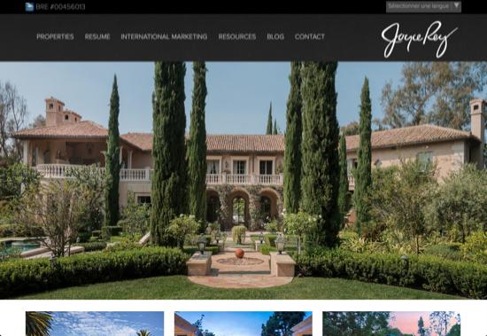 inspiration design site internet immobilier 24