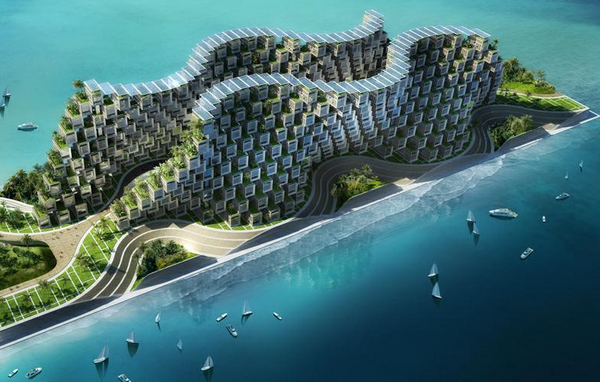 20 projets architecturaux qui risquent de r volutionner l for Architecture futuriste ecologique