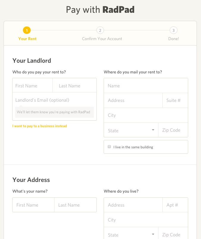 radpad le locataire paie son loyer en ligne et le. Black Bedroom Furniture Sets. Home Design Ideas