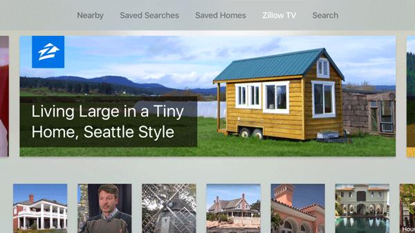 Écran application immobilier Zillow