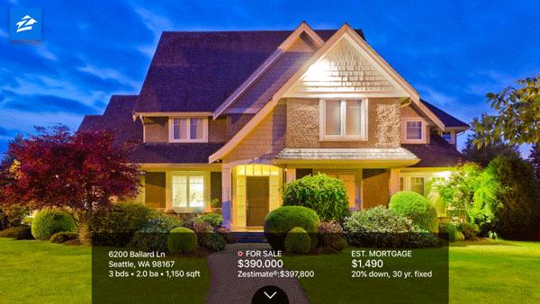 photos montrant importance visuel application immobilière