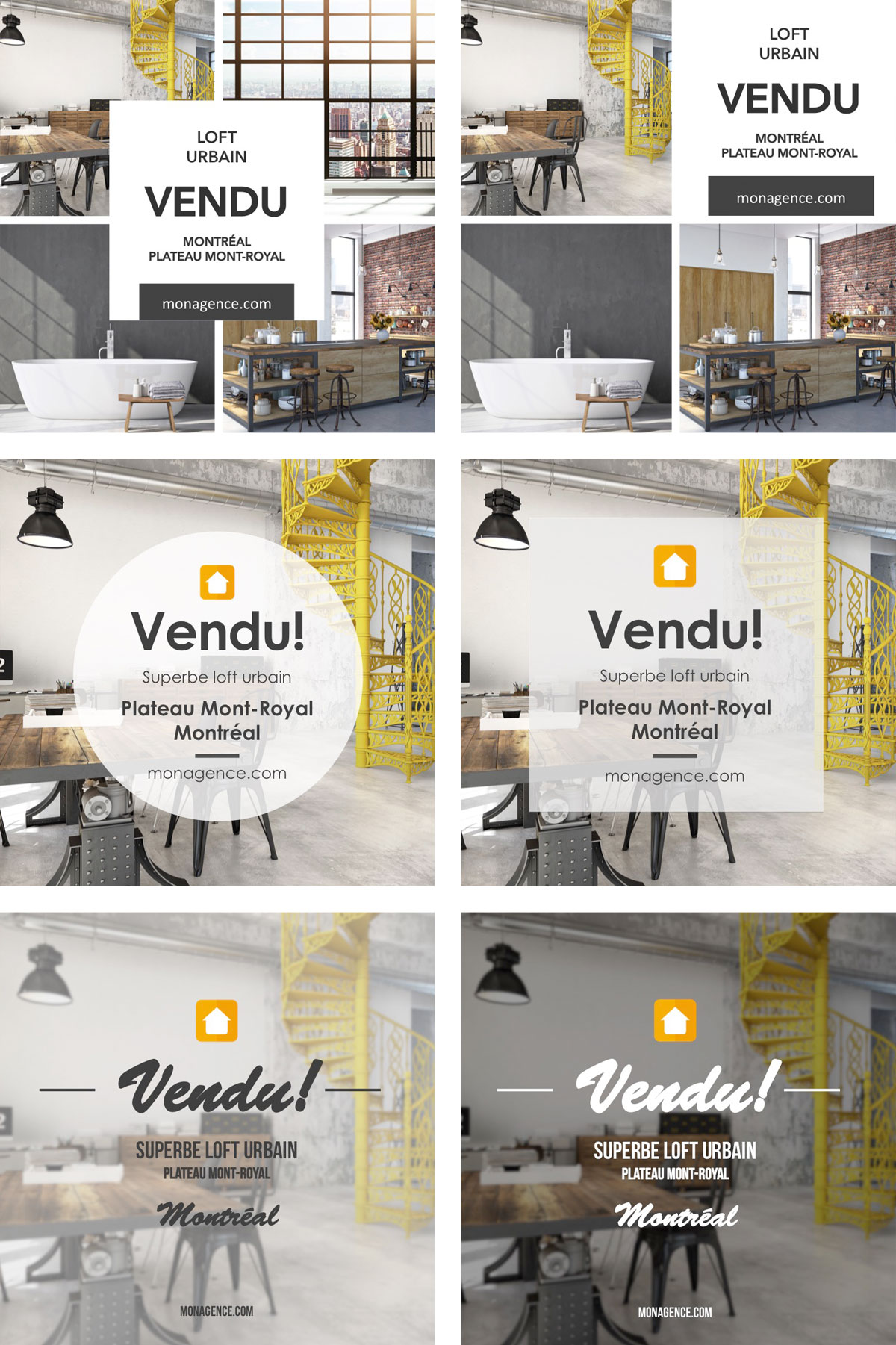 flyer immobilier communication vendu