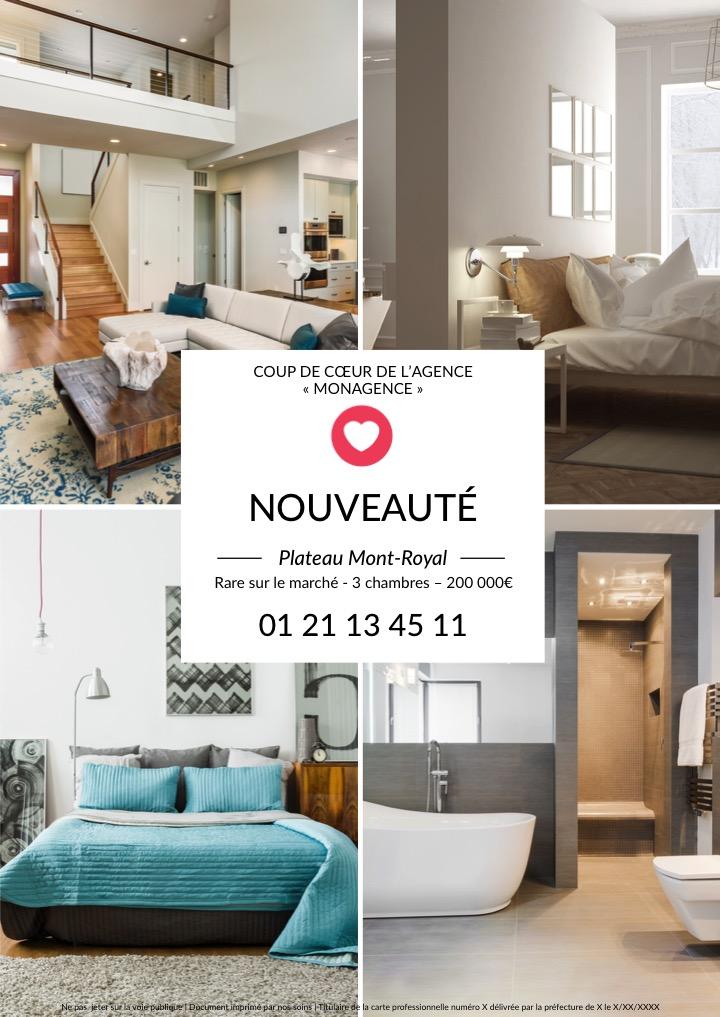 Flyer-immobilier-nouvelle-propriété-collection-social-network