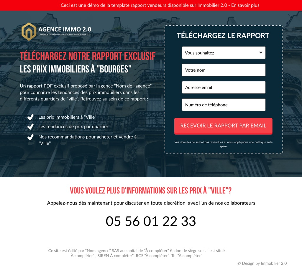 Landing-page-immobilier-rapport-prix-immobilier
