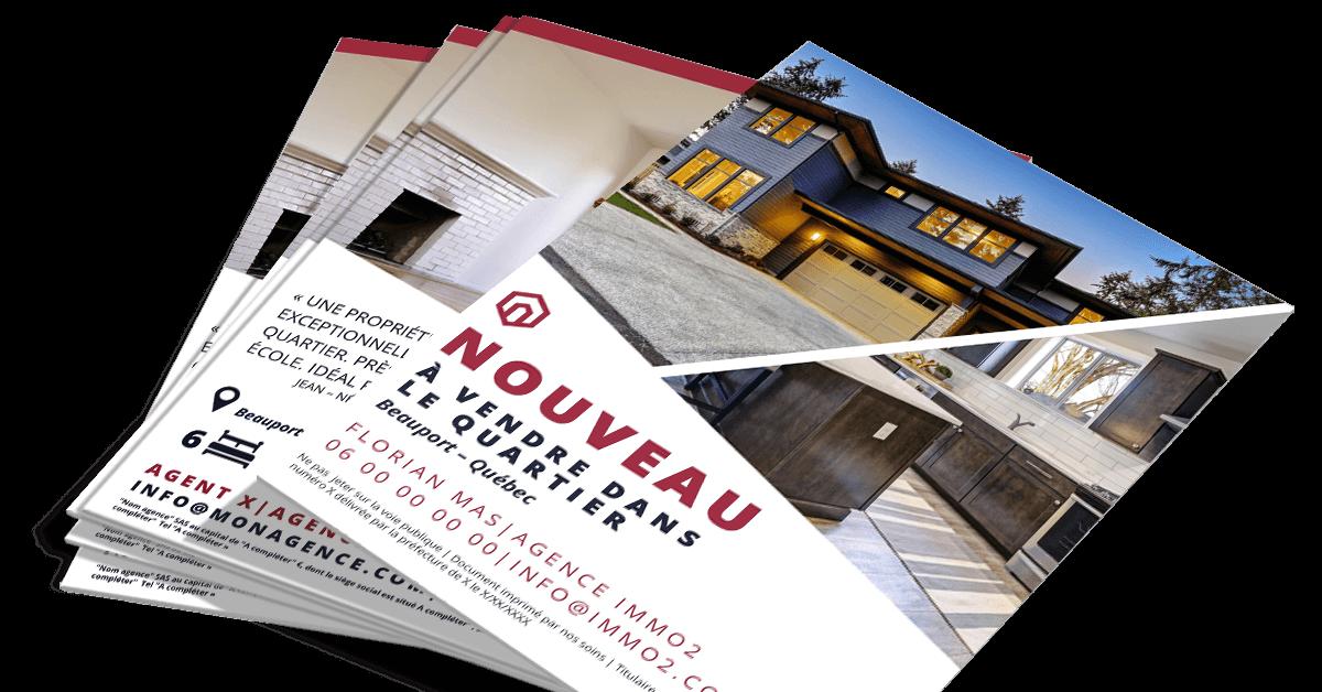Design flyer immobilier pour communiquer nouvelle for Location appartement sans agence immobiliere