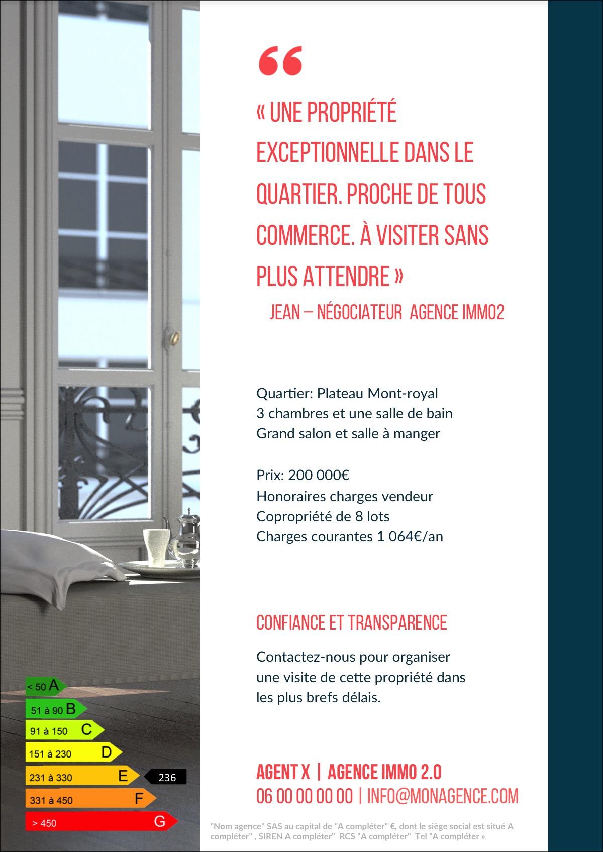 design flyer immobilier pour communication nouvelle