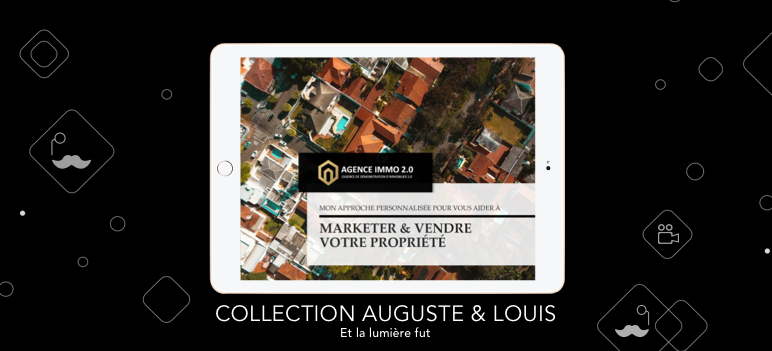 Template Book de service vendeurs collection auguste et louis