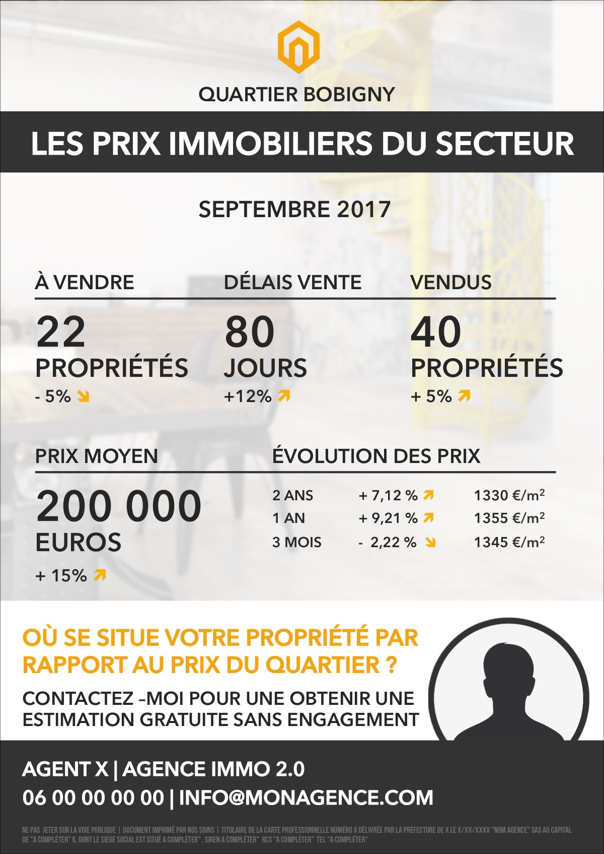 Flyer prix marche immobilier collection shining 1