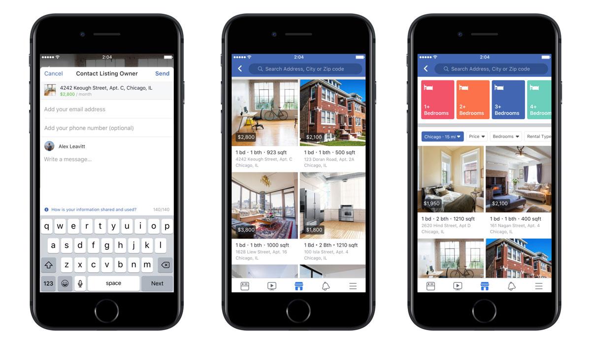 facebook immobilier : illustration de la marketplace