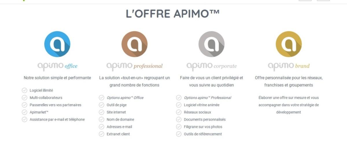 apimo : les offres proposées pour le logiciel