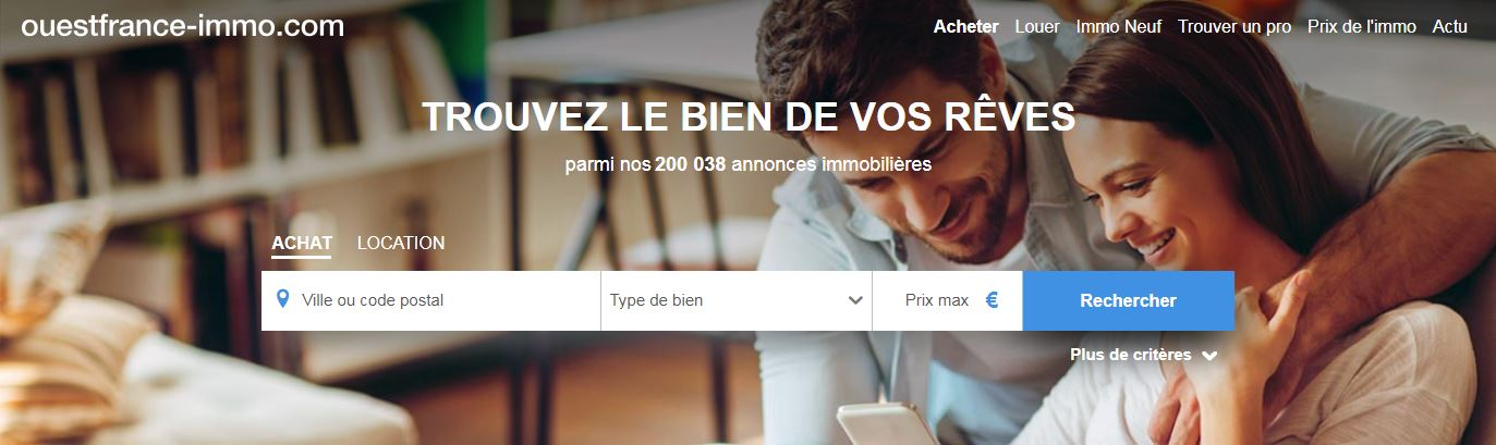 Ouestfrance Immobilier Portail Annonces Immobilieres Homepage