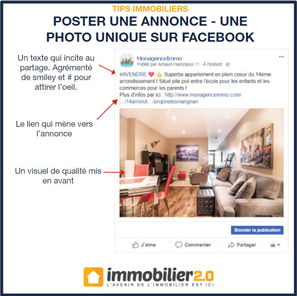 Facebook Annonce Immobilier Photo Seule