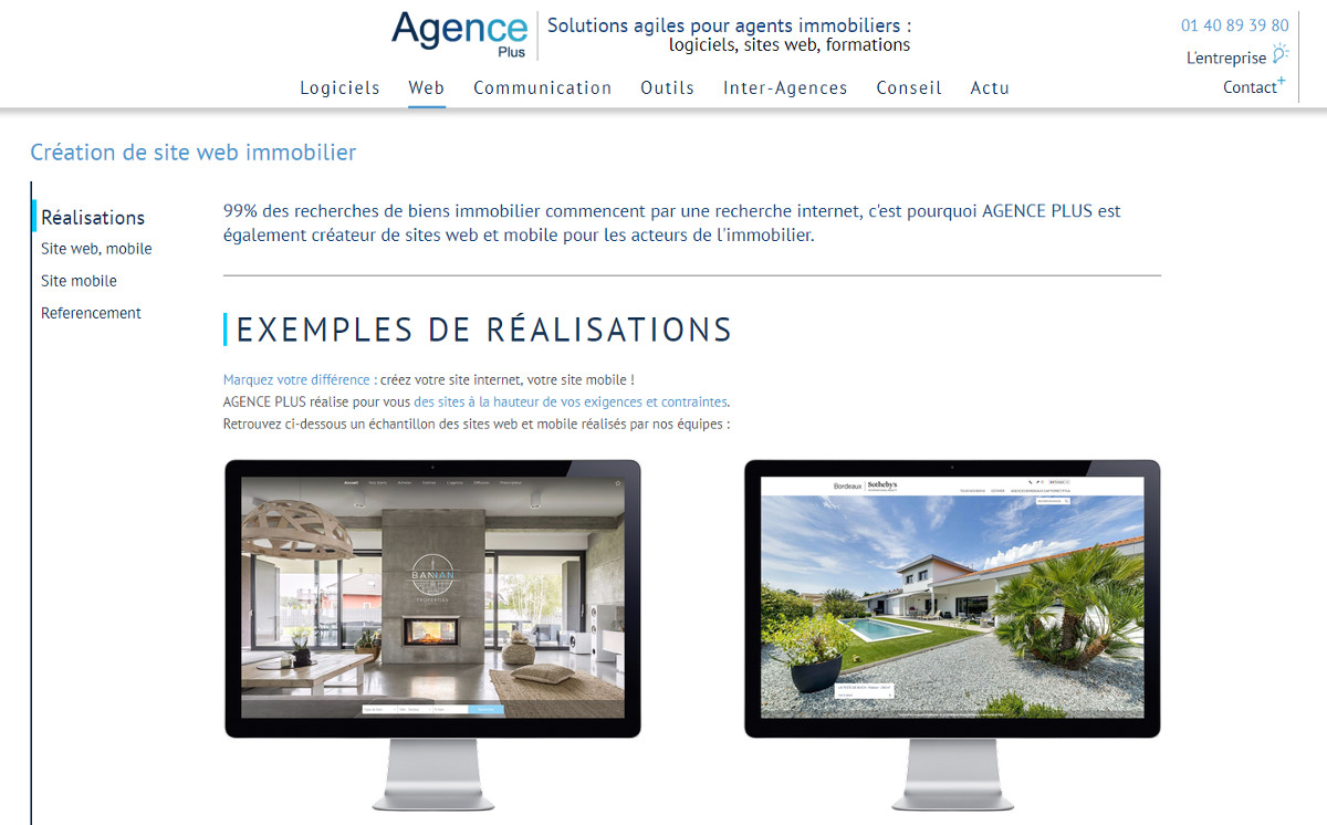 Agenceplus Creation Site Immobilier