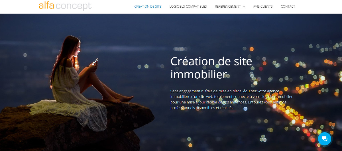 Alphaconcept Agence Creation Site Immobilier Illustration