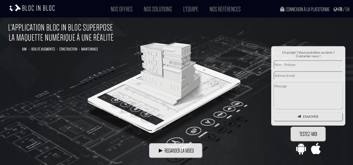 Blocinbloc Vivatech Start Up Immobilier Bim Maquette Numerique