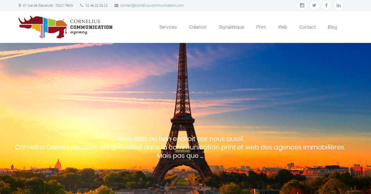 Cornelius Communication Agence Immobilier