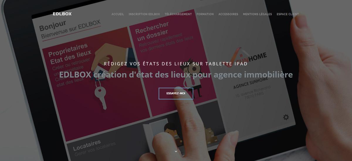 Edlbox Application Etatdeslieux Immobilier Tablette