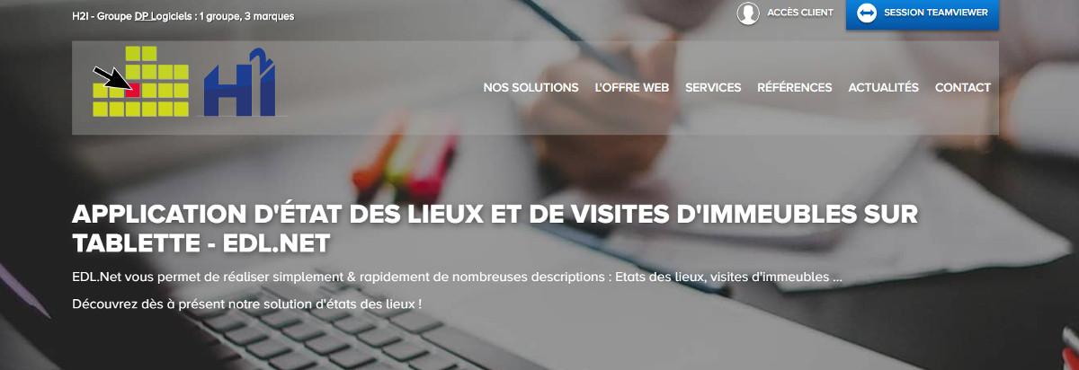 Edlnet Application Etats Des Lieux Tablette Immobilier Illustration