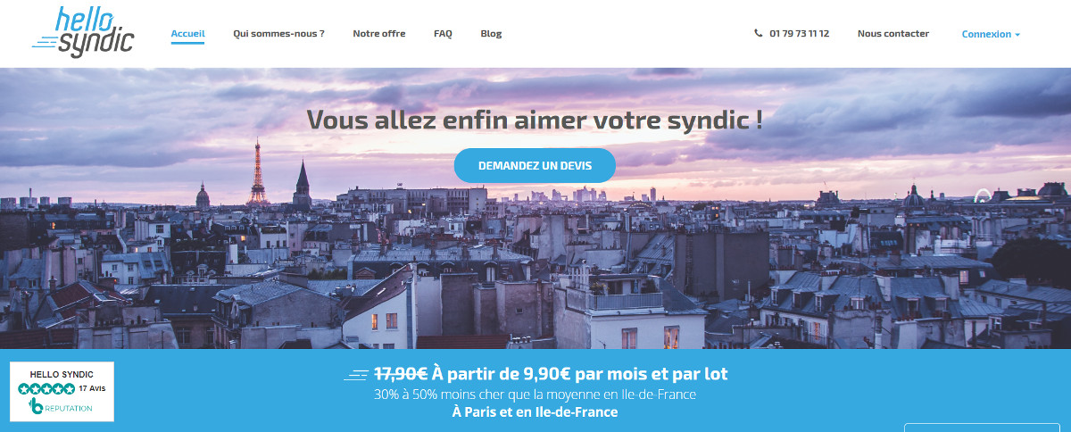 Hellosyndic Gestion Coproprietes Immobilier Illustration