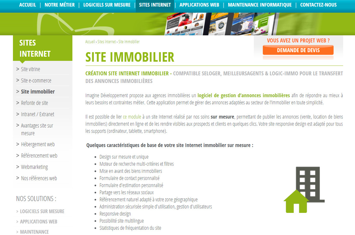 Imaginedeveloppement Creation Site Internet Agence Immobiliere Illustration
