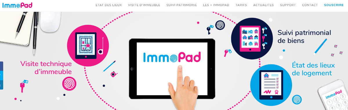 Immopad Etats Deslieux Immobilier Dematerialise Illustration Homepage