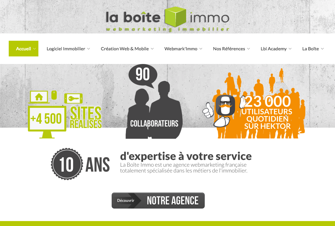 Laboiteimmo Site Internet Referencement Agence Immobilier
