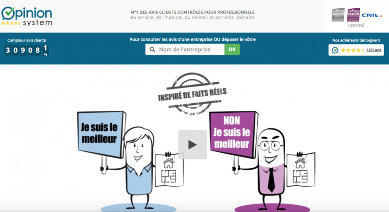 Opinion System Avis Clients Immobilier