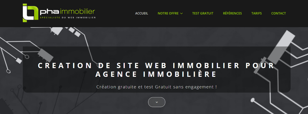 Phaimmobilier Creation Site Agence Immobiliere Illustration
