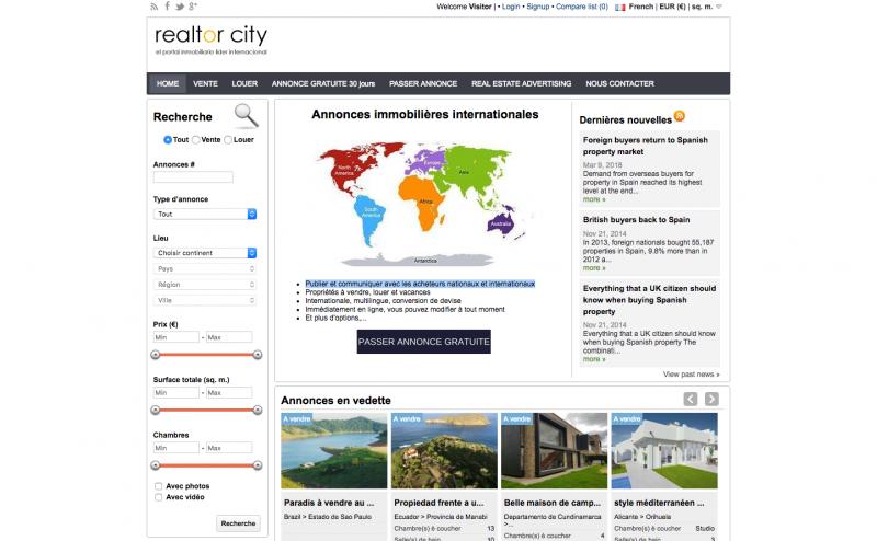 Realtor City Portail Immobilier Mondial Acheteur Etranger