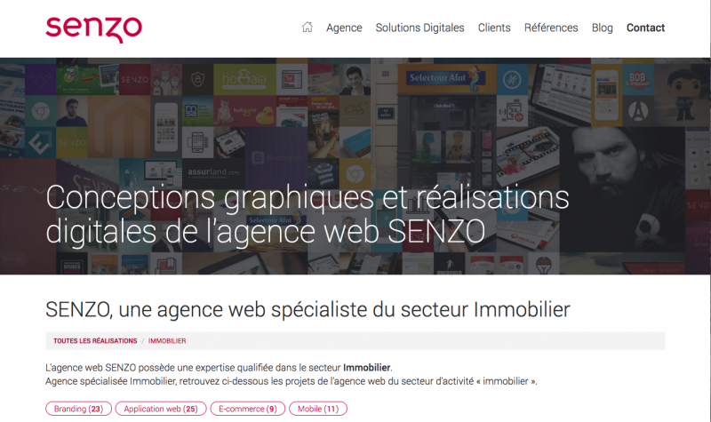 Senzo Communication Web Immobilier Design