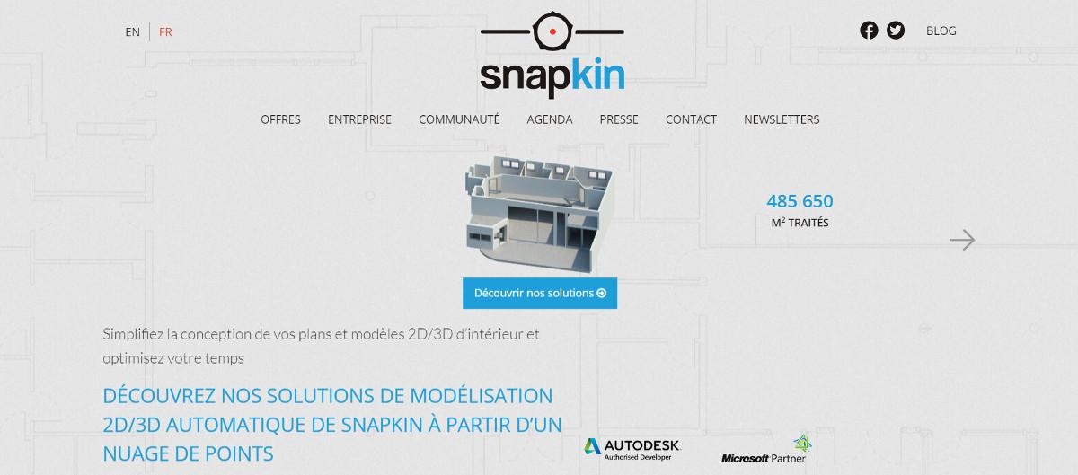 Snapkin Startup Immobilier Modelisation 3d Salon Vivatech