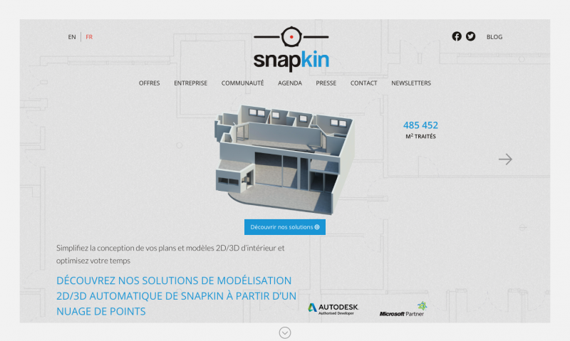 Snapkin Startup Immobilier Visite 3d
