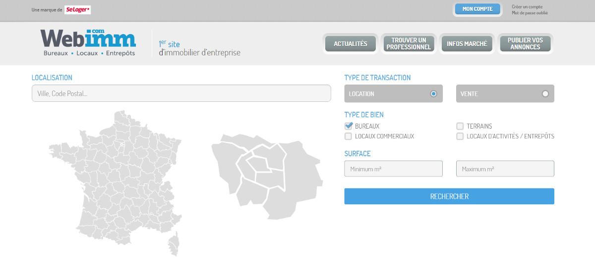 Webimm Portail Immobilier Bureaux Locaux Commerciaux Illustration