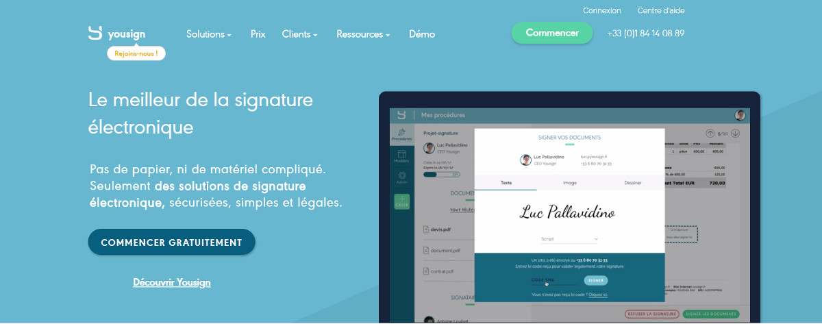 Yousign Signature Electronique Immobilier Annuaire Immo2