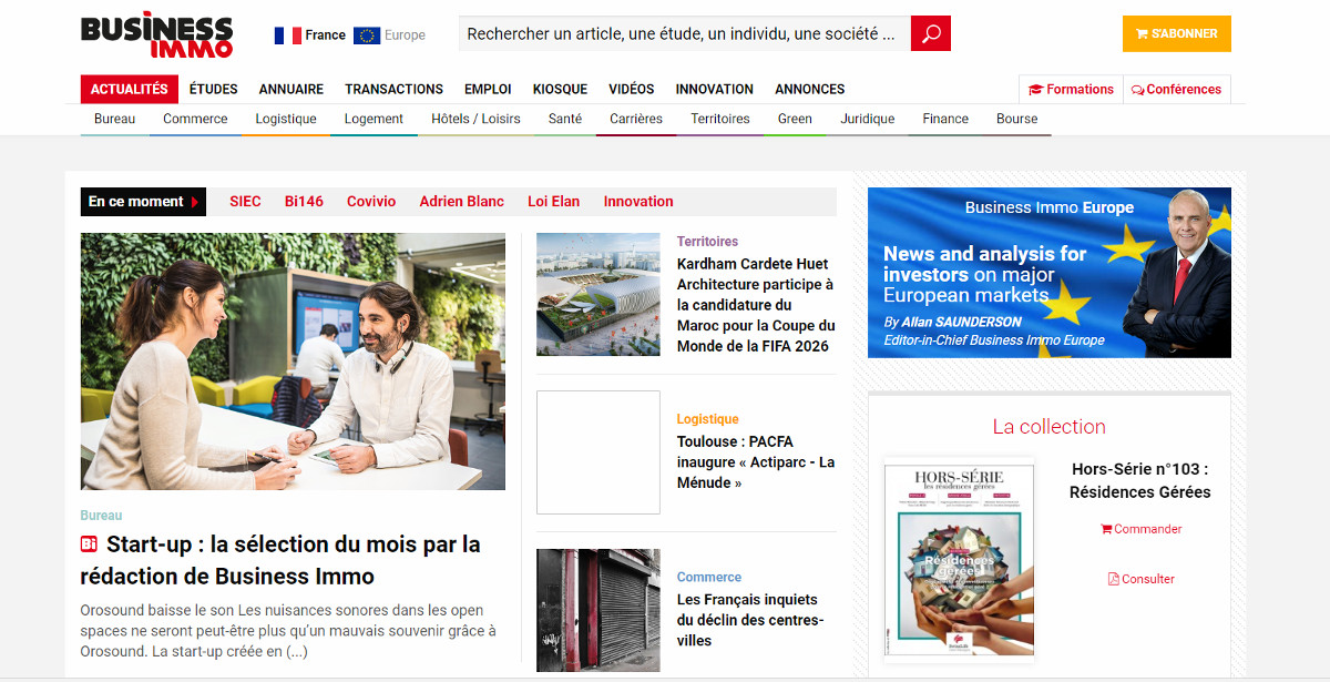 Businessimmo Media Information Immobilier Illustration