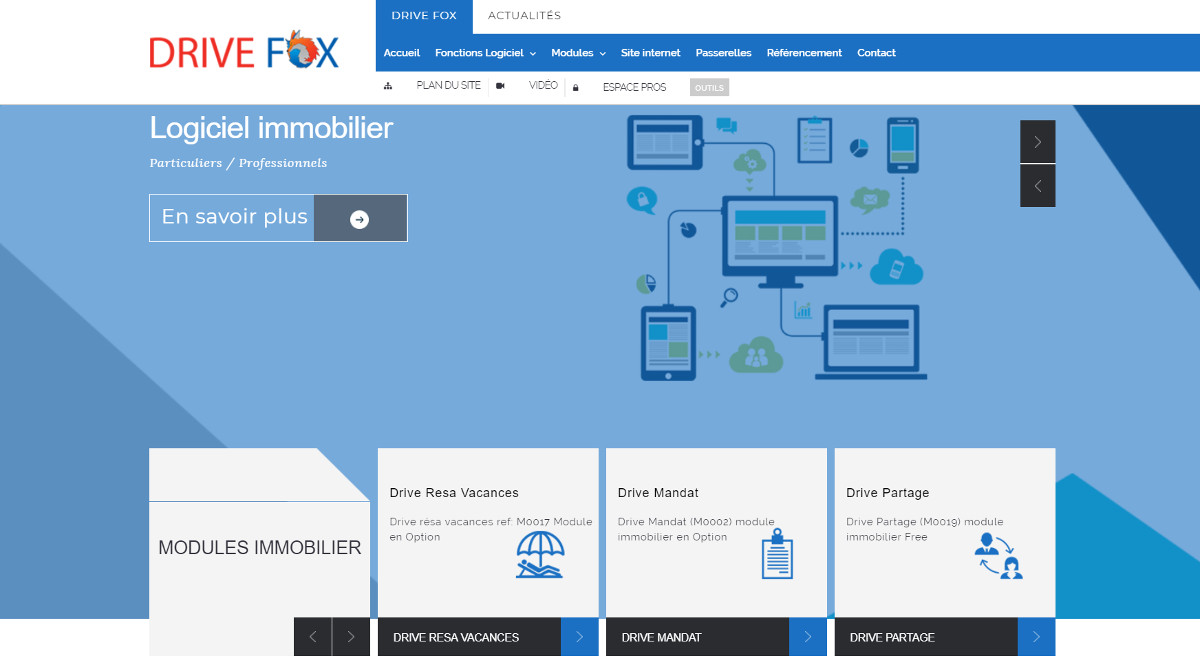 Drivefox Logiciel Immobilier Intercabinet