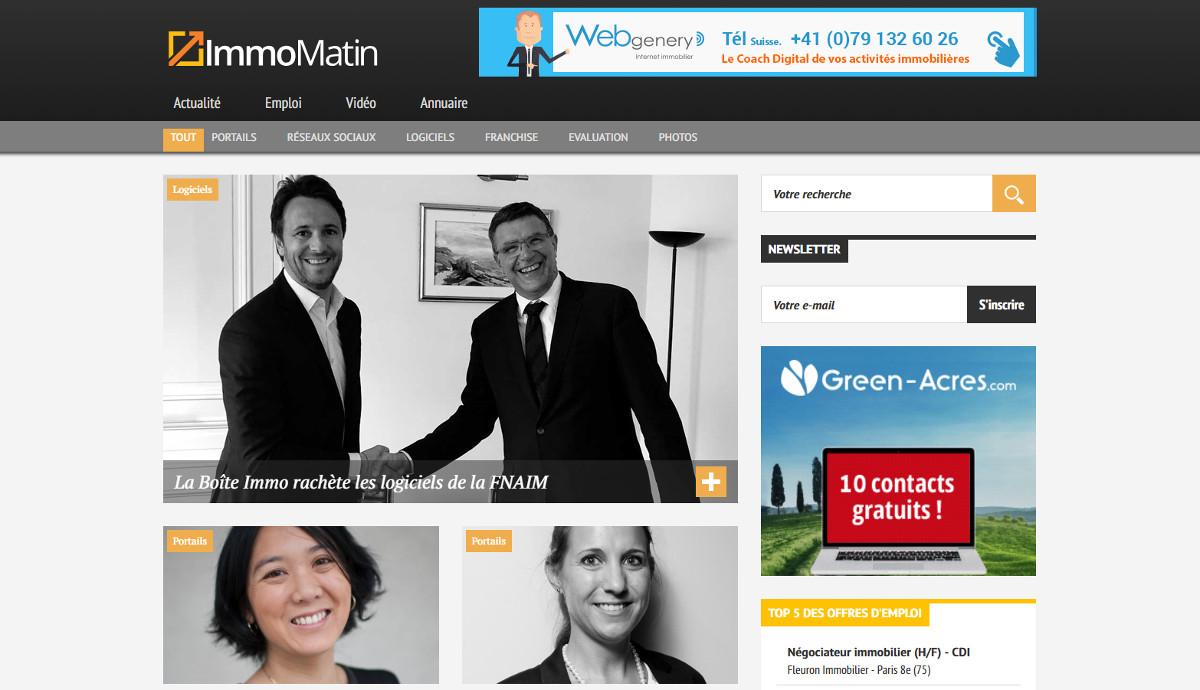 Immomatin Medias Immobilier Illustration