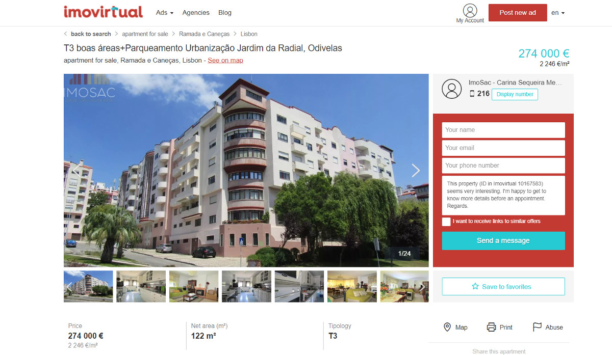 Imovirtual Portail Immobilier Annonce Photographies