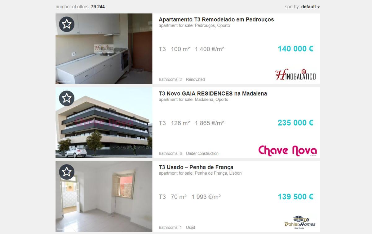 Imovirtual Portail Immobilier Resulats Recherche Marketing