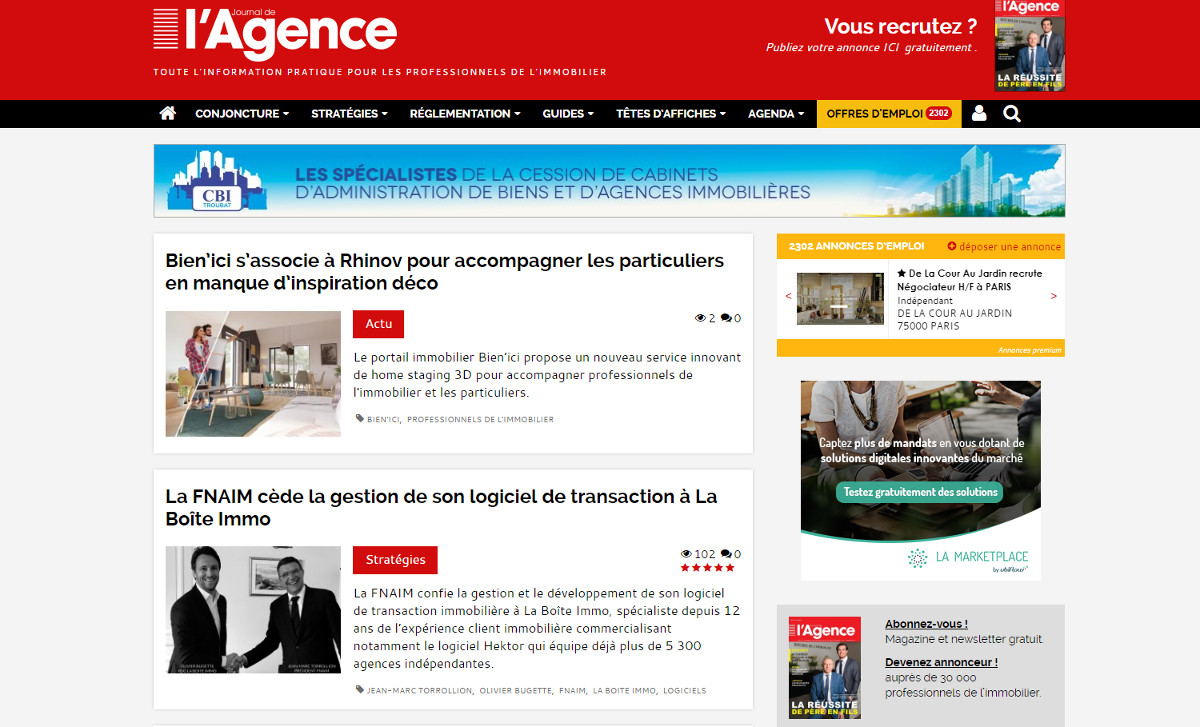Journaldelagence Medias Immobilier Illustration Info