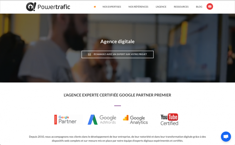 Powertrafice Adwords Immobilier