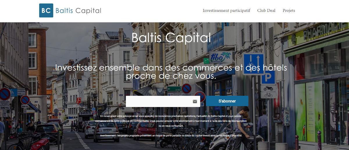 Baltis Capital Crowdfunding Immobilier Financement Participatif