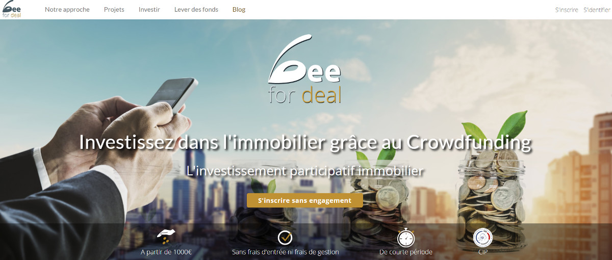 Beefor Deal Immobilier Crowdfunding Plateforme