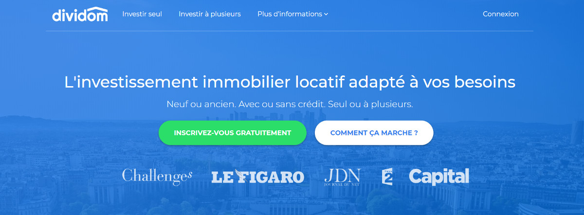 Dividom Crowdfunding Immobilier Homepage
