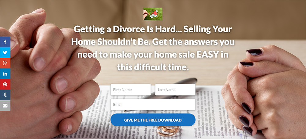 Exemple Landing Page Divorce